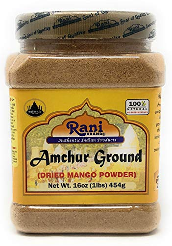 Rani Amchur (Mango) Ground Powder Spice 16oz (454g) ~ All Natural, Indian Origin | No Color | Gluten Free Ingredients | Vegan | NON-GMO | No Salt or fillers
