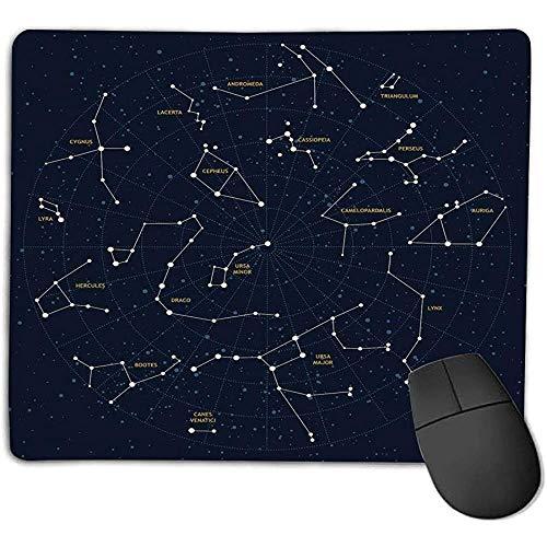 muismat muismat sterrenbeeld hemel kaart Andromeda Lacreta Cygnus Lyra Hercules Draco laarzen Lynx donkerblauw geel wit