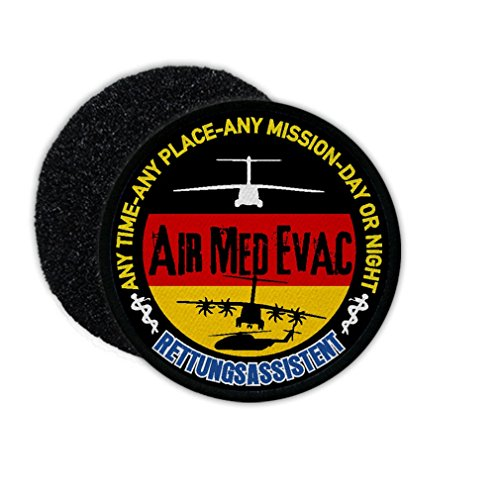 Copytec Patch Air Med Evac Rettungsassistent SanDst Bundeswehr Assistent Sanitäter Sani Luftrettung Rettungsflieger #23814