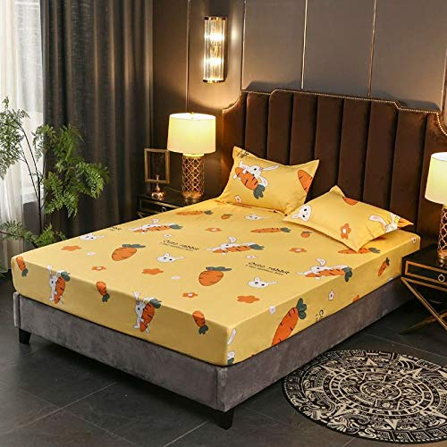 DOUJIAO Double-Layer Full Surrounded Heightened Skin-Friendly Washable Waterproof Urine-Proof Bed Sheet Bed Linen120*200 * 25