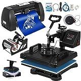 Mophorn Heat Press Machine 12x15 inch 5in1 T-Shirt Heat Press and Vinyl Cutter 14 inch Plotter...
