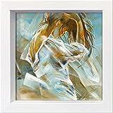 International Graphics Gerahmte Postkarte - MEIJERING, Kitty - ''Ocean Breeze II'' - 16 x 16 cm - weißer Rahmen