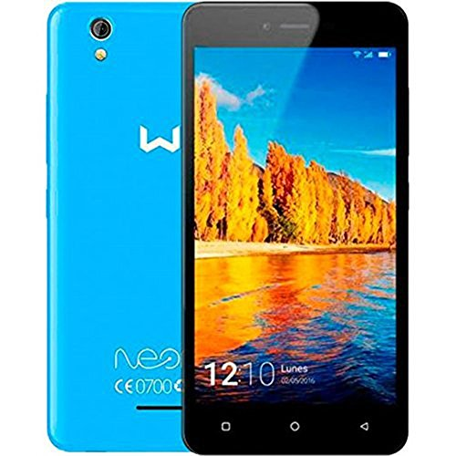 Weimei Neon - Smartphone de 5' (Mediatek Quad Core, cámara Trasera 5 MP, cámara Frontal 2 MP, RAM de 1 GB, Memoria Interna de 16 GB, Dual SIM, WeOS Android 6.0) Azul