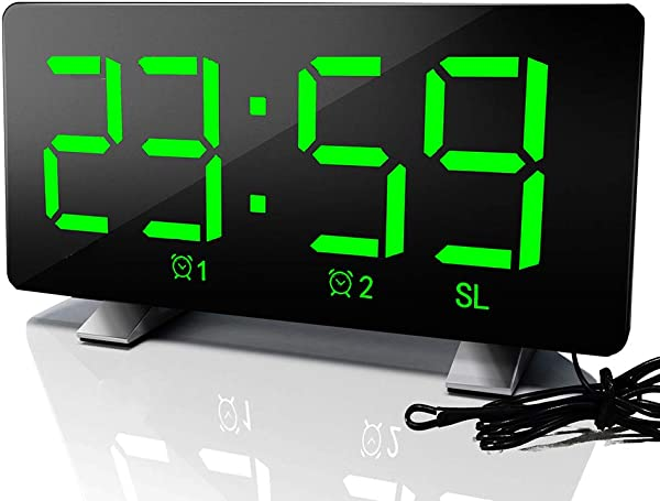 Sunsbell Sunsbell Digital Dual Alarm Clock FM Radio Clock With USB Charging Port 3 Level Brightness Adjustable 12hr 24hr Format And Snooze For Bedrooms Bedside Desk