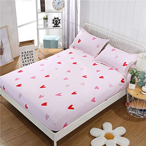 GTWOZNB Extra Deep Fitted Bed Sheet Hotel Quality Fitted Bed Sheets The bed sheet protective cover is dust-proof and non-slip-11_180*220cm