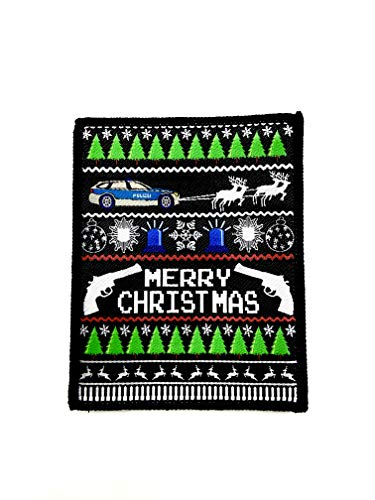 Polizeimemesshop Merry Xmas Textilpatch