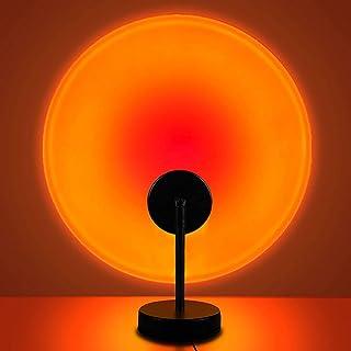 Sunset Lamp, Sunset Projection Light LED Night Light, 360 Degree Flexible Rotation Rainbow Projector Light, USB Floor Stan...