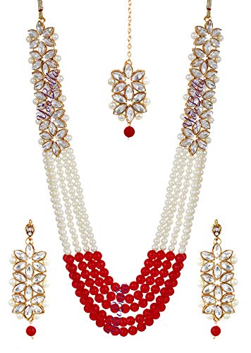 Buy YouBella Jewellery Sets for Women Gold Plated Wedding Bridal Necklace Jewellery  Set with Earrings for Girls/Women (Red) at Amazon.in