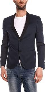 Giubbotto Giaccone Daniele Alessandrini Jacket Uomo Blu I8021FPT3802