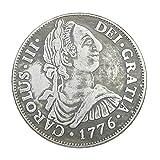 Plata Antigüedades, 1776 Carlos III de España para Hacer Las Antiguas Monedas de Plata Antigua de Doble Columna de Cobre-níquel de aleación de Plata