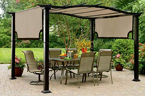 The Outdoor Patio Store Kmart Essential Garden Curved Pergola Replacement Canopy - High Grade 300D