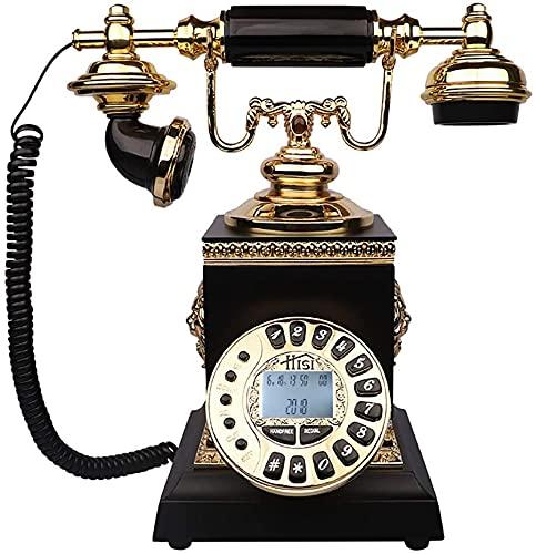 SXCDD Old Fashioned - Teléfonos decorativos para el hogar, oficina, teléfono antiguo americano, negro noble, oficina