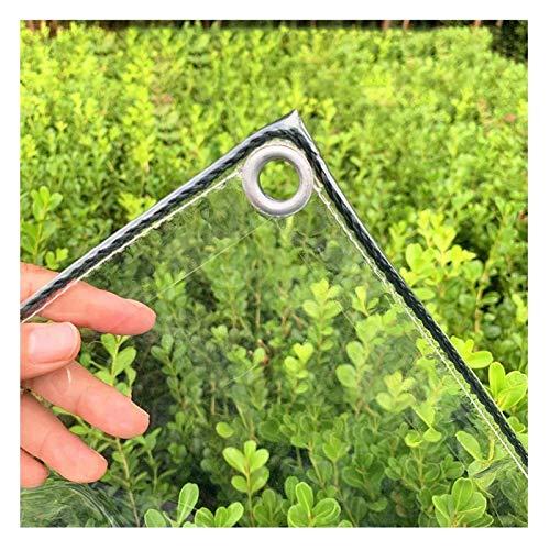 AMDHZ Lona para Terraza Exterior 100% Impermeable 0,3mm PVC Transparente Cortina Lona Balcon Usado para Terraza, Jardín, Pabellón, Invernadero (Color : Clear, Size : 3x4m/9.8x13.1ft)