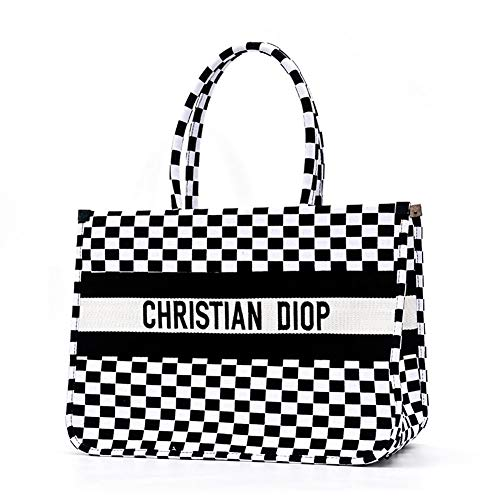 Strandtasche Damen große Sommer Canvas Handtasche mit Reißverschluss Einkaufstasche Damen Messenger Reisetasche geeignet für Laptop, iPad, Geldbörse und den täglichen Bedarf Leichte große Handta
