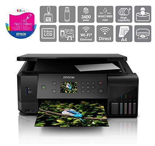Epson EcoTank ET-7700 A4 Print/Scan/Copy Wi-Fi Photo Printer