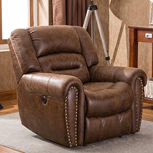 Best ANJ Electric Recliner Chair W/Breathable Bonded Leather, Classic Single Sofa Home Theater Recliner S