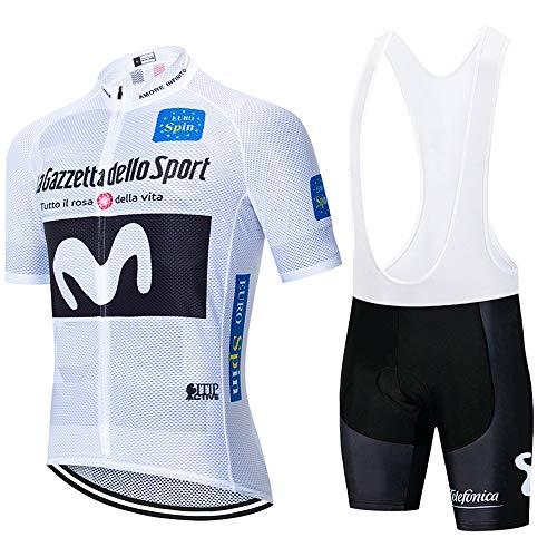 Traje de Ciclismo para Hombre de Equipos,con 5D Gel Pad. para MTB, Bicicleta de Carretera
