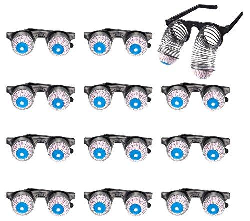Copas de Panda Azul de 12 Unidades, anteojos de Globo Ocular, Regalos de Fiesta tontos y Regalos de Broma para Halloween, día de los tontos de Abril y Fiesta temática, 4.7 x 1.7 x 4.9 Pulgadas