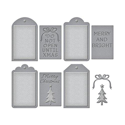 Spellbinders Christmas Tag Set Etched/Wafer Thin Dies