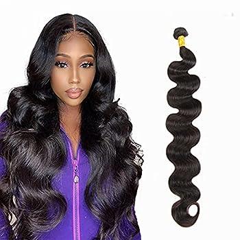 NUOF Brazilian Body Wave Human Hair 1 Bundles  30 inch  8A 100% Unprocessed Brazilian Virgin Body Wave Bundles Human Hair Natural Black 95-100 Gram