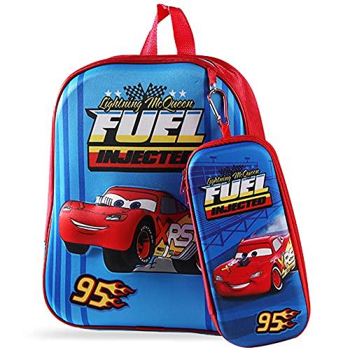 simyron Zaino per Bambini Car McQueen 3D Zaino Astuccio super-eroi Zaino per Bambini Zaino per Studenti Zaino Regolabile per Libro di Scuola Materna Viaggio Escursioni