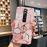 Uposao Coque pour Huawei Mate 20 Lite Coque Girly Case 3D Motif Géométrique Marbre Design avec...