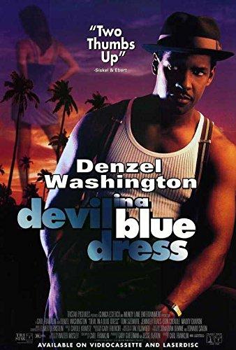 DIABLO en forma de corazón de color azul con para vestidos Póster de película 27 x 40 en - 69 cm x 102 cm Nick (y) Corello Denzel Washington Jennifer Beals Don Cheadle Tom Sizemore Chaykin Maury