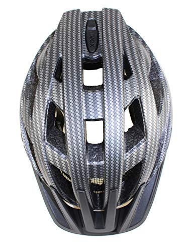 Uvex Erwachsene I-VO CC Fahrradhelm, Black Carbon Look Mat, 52-57 cm - 4