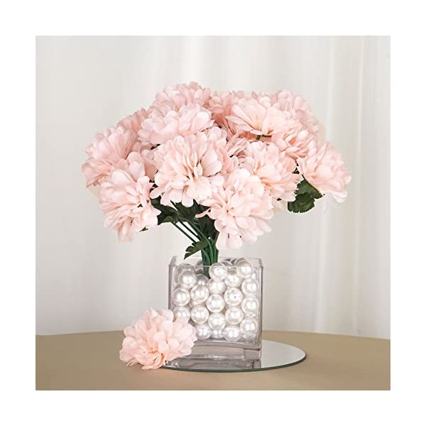 BalsaCircle 84 Blush Silk Chrysanthemums – 12 Bushes – Artificial Flowers Wedding Party Centerpieces Arrangements Bouquets Supplies