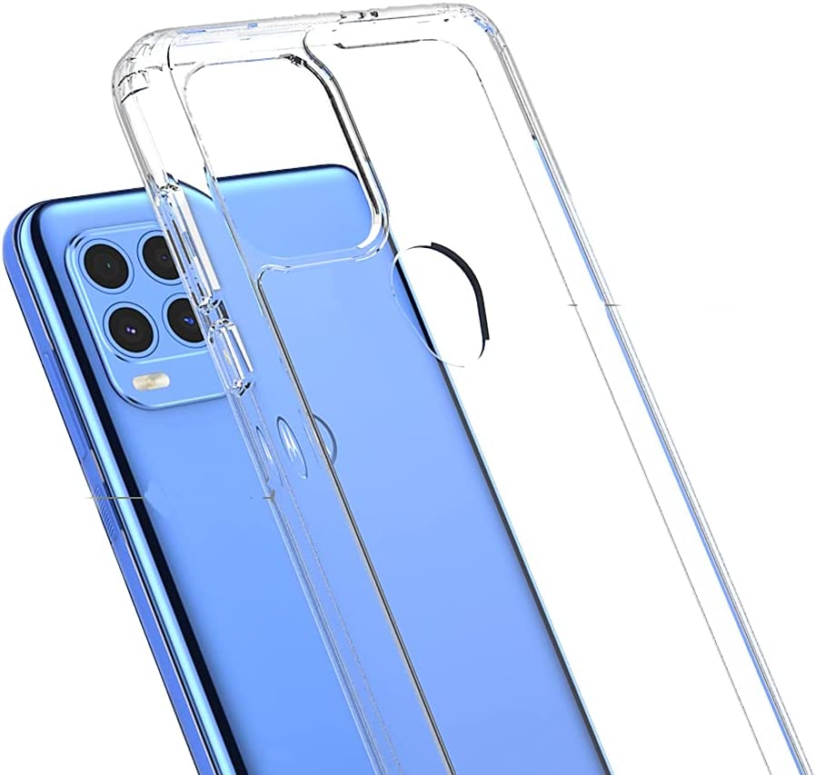 Ftonglogy Cell Phone Case for Moto G Stylus 2021 5g, Crystal Slim Air Buffer Clear TPU [Drop Proof]+ PC Shockproof Phone Protective Case Cover for Moto G Stylus 5G 2021 (Clear)