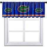 Curtain Valance University Blackout Short Window Treatment Decoration for Living Room, Kitchen, Bathroom 52'' x 18''