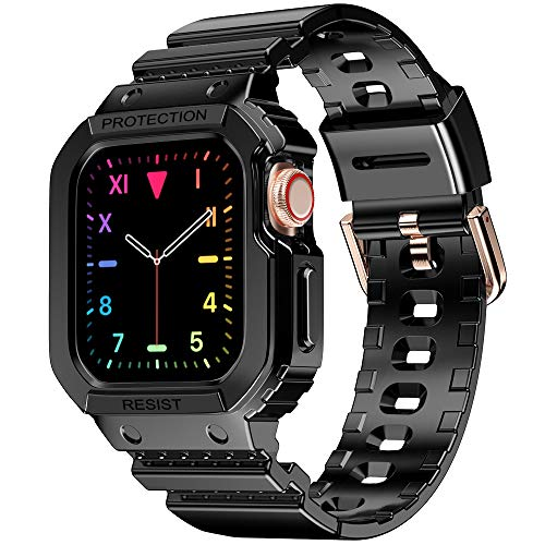 amBand Compatible per Apple Watch Cinturino 40mm 38mm,cinturino sportivo in TPU con custodia Compatibile con IWatch Series 6/SE/5/4/3/2/1