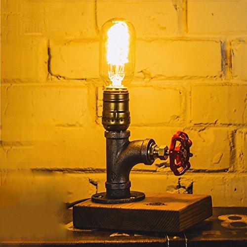 TOYM UK American Retro personnalisé étanche lampe de table Creative Bar Cafe chambre lampe de table