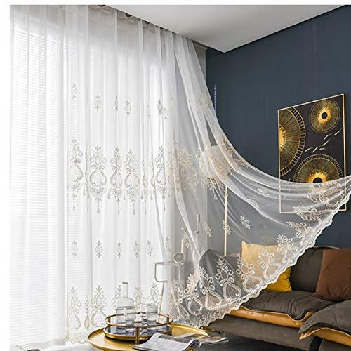 Tende per camera da letto trasparenti in poliestere, Pannelli con occhielli, per sala da pranzo,...