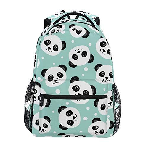Cute Panda School Backpack for Kids Girls/Boys Teens Bookbag Student Backpacks Travel Daypack Shoulder Bags