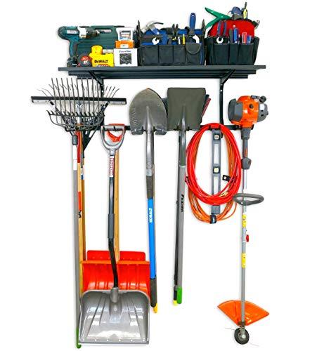 StoreYourBoard Tool Max Essential Garage Rack + Shelf, Adjustable Wall Mount Hanger