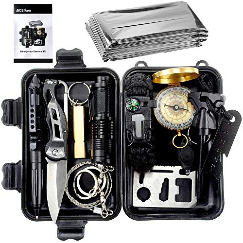 ACEIken Birthday Day Gifts for Him Husband Men Boyfriend Boys,Emergency Survival Kit 13 in 1 Outdoor...