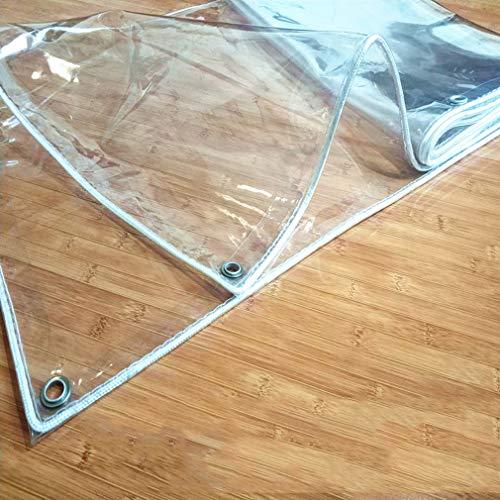 Sh000ad Lona Transparente Impermeable,0,3mm PVC Lona Transparente Cortina con Ojales,Lona Cubierta Camping de Pesca al Aire Libre Trabajo Pesado,Resistente a la Rotura,400g / ? (3x6m/10x20ft)