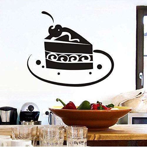 Amerikanische Diy Wasserdichte Schokoladenkuchenscheibe Auf Teller Wandaufkleber Wohnkultur Abnehmbar Für Küche Zimmer Wandtattoo Poster Größe 44 * 38Cm