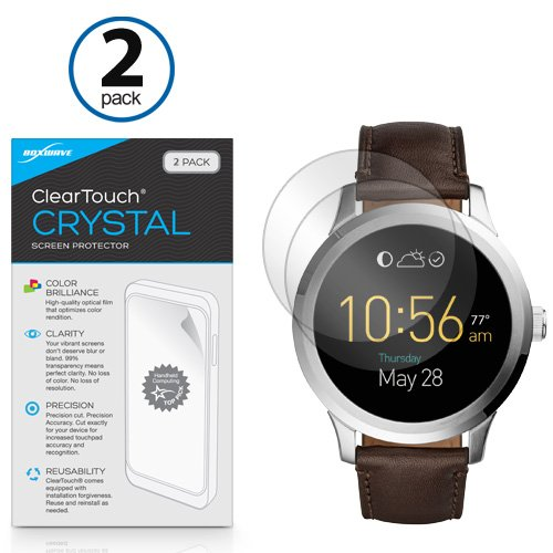 Screen Protector for Fossil Q Founder Gen 2 (2016) (Screen Protector by BoxWave) - ClearTouch Crystal (2-Pack), HD Film Skin - Shields from Scratches