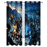 Room Blackout Window Curtains with Grommets Game of Thrones A Song of Ice and Fire Battle Holiday Decor W55xL72 Inch