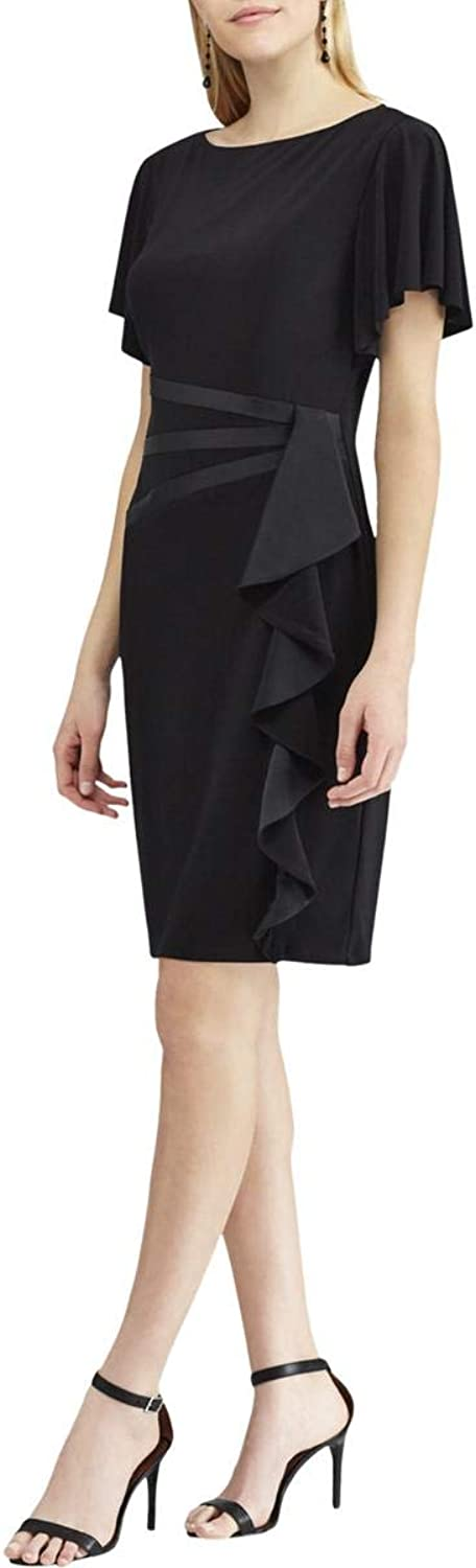 American Living Womens Ruffled Business Wear to Work Dress