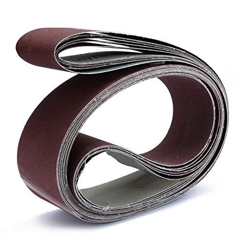 6 Stück 2 & quot;x 72 & quot;Metallschleifbänder Körnung Bandschleifer Schleifen Polierschleifpapier Körnung 180/240/320/400/600/800 Körnung, wie gezeigt