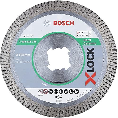 Bosch Professional Diamanttrennscheibe Best (für harte Keramik, X-LOCK, Ø125 mm, BohrungsØ: 22,23 mm)