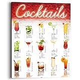 REINDERS Cocktails - deutsche Rezepte - Wandbild 40 x 50 cm