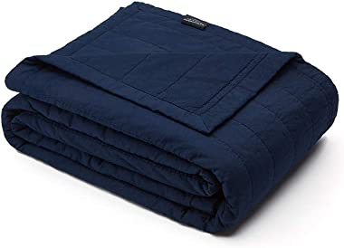 endlessbay Soft Cotton Quilt, Lightweight Breathable Coverlet Comforter, Solid Reversible Stitched Bedspread, Cozy for All Se