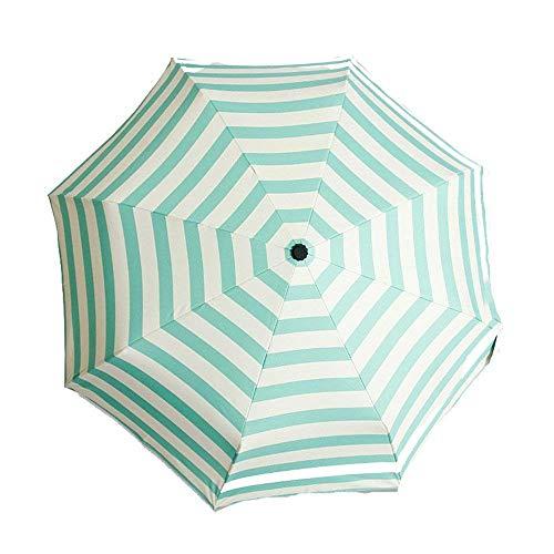 DZNOY Paraguas, Paraguas a Rayas de Moda, Paraguas automático, Paraguas del Sol, Paraguas, Paraguas de Las señoras, Paraguas al Aire Libre de Verano sombrilla (Color : A)