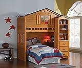 ACME Tree House Loft Bed, Rustic Oak