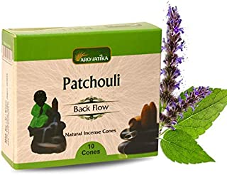 ARO VATIKA Patchouli Natural Masala Incense Backflow Cones 120 Cones in Pack of 12 Boxes | Best for Prayer, Meditation and...