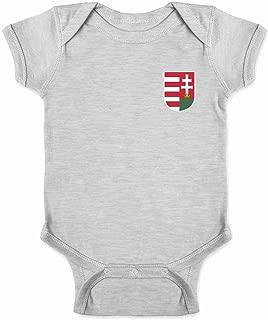 Hungary Soccer Retro National Team Costume Infant Baby Boy Girl Bodysuit